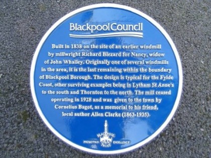 Our Blue Heritage Plaque 2015
